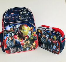 """New Avengers : Large 16"""" inches School Backpack & Lunch Box(Brand new)"""