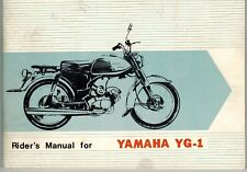 1960 YAMAHA YG-1 YG1 MOTORCYCLE RIDERS MANUAL ILLUSTRATED ORIGINAL OEM NOS RARE