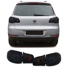 ALL SMOKED LED REAR TAIL LIGHTS FOR VW TIGUAN 5N  2007 - 04/2011 MODEL