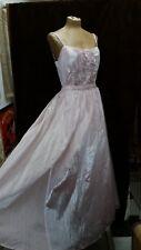 New listing Vintage 1970's Pink Chiffon & Sequins Evening Dress by Gunne Sax Size Medium