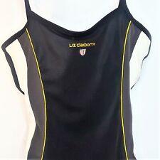 Liz Claiborne one piece swimsuit Size 12 Black White Underwire Bra Lifeguard