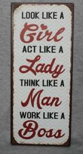 Humour Inspiration Woman Lady Girl Funny Comic Sign Plaque Wall Art Decoration