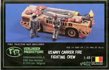 Verlinden 1:48 US Navy Carrier Fire Fighting Crew Resin Figure Kit #402