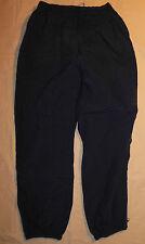 Vtg American Eagle Windbreaker Pants Navy Blue Mesh Liner Gray Stripes Mens L