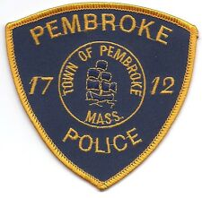 **PEMBROKE MASSACHUSETTS POLICE PATCH***