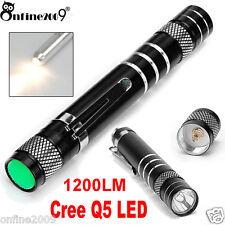 1200LM Cree Q5 LED Minitaschenlampe-Feder-Licht-Leistungs-Fackel AA-Lampen-Licht