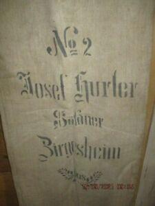 alter Mehlsack Zirgesheim bei Donauwörth 1908 Leinen Leinensack