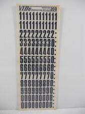 10  FOGLI TRASFERELLI TRASFERIBILI VIBO HEADLINE NERO 208 MM 17 numeri