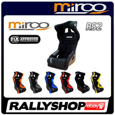 FIA APPROVED Mirco RS2 Racing Seat COLOURS, Head Restraint CHEAP FAST DELIVERY