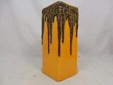 Rare dark yellow & black 70´s  WGP design FOHR Fat Lava Keramik Vase 341 - 20