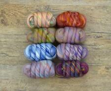 BAMBINO.MERINO WOOL TOPS & BAMBOO MIX. 80g. 8 COLOURS (10g of each colour).CRAFT