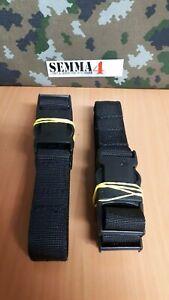 Genuine British Police Black holster leg straps x2. New