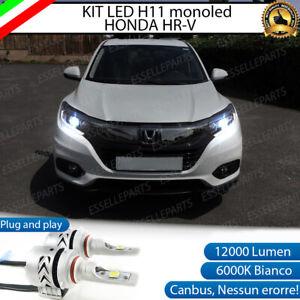 KIT LED H11 6500K CANBUS 12000 LUMEN MONO LED HONDA HR-V HR V FARI LENTICOLARI