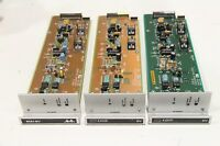 Lot of (3) GVG Grass Valley 066706-50J SubCarrier Receiver DV Card Board