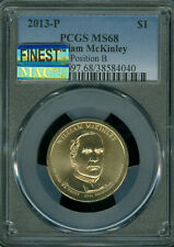 2013-P WILLIAM McKINLEY DOLLAR PCGS MS-68 POS-B MAC FINEST MAC SPOTLESS POP-7 *