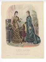 """Ladies Fashion Print - """"La Mode Illustree"""" 1877 No. 38"""