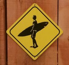 Surfer Crossing Xing Symbol Highway Route Sign