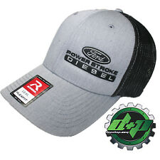 Ford Powerstroke trucker hat richardson Gray Denim Black mesh flex fit lg/xl