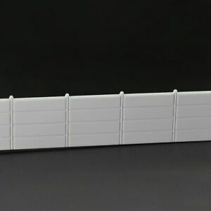 6pcs Model Railway Diarama 1:87 Building Fences HO OO Scale Wall White 2M