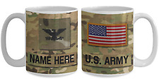 US Army Personalized Officer Mug, COL (O6) US Army Gift for Dad/Mom/Son/Daughter