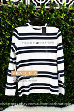 BNWT RRP$79.95 TOMMY HILFIGER Mens Long Sleeve Tee T-shirt Size S XXL Navy White