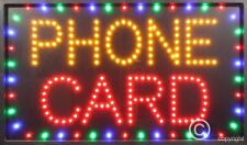 Scheda TELEFONICA Qualità Lampeggiante LED Segni Negozio Finestra Nuovo