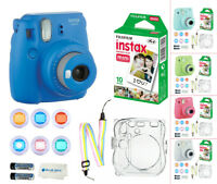Fujifilm Instax Mini 9 Camera + 10 Prints Fuji Instant Film + Accessory Kit!