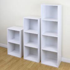 9 Cube White Modular Square Wooden Storage Unit 4 Tier Shelf Display/Bookcase