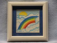 Original Signed Watercolor of Rainbow by K.Bobillo