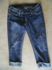 """SILVER TUESDAY 16 1/2"""" CAPRI Cropped Jeans Womens SIZE 29"""