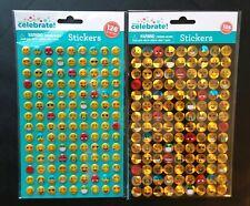 Emoji Stickers 3D Foil (252 Stickers) 30+ Unique Emoji Faces! IPhone Android