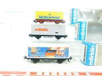 BS667-0,5# 3x Märklin H0/AC Containerwagen 4483, Readers Digest etc. NEUW; OVP
