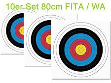 10er Set 80er Fita Papierauflage Scheibenauflage Zielscheibe Bogensport 80x80cm
