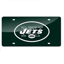 New York Jets Green Mirrored Laser Cut License Plate Laser Tag