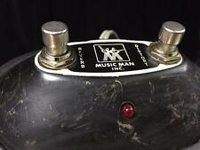 Vintage Music Man Amp Footswitch 2-Button Reverb / Distort - RCA Ends w/LED