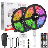 32.8FT 600 LED Strip Light SMD 5050 RGB Tape Lamp Remote / 100 LED String Lights