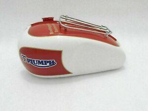 New Fits Triumph T120 Bonneville Cream Orange Paint 3.5 Gallon Petrol Fuel Tank
