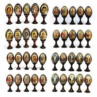 Set of 5 x Small Russian Wooden Easter Eggs (3.4 in)