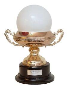 """Garant. Unique Art Nouveau Design Table Desk Lamp """" Silver Trophy """" Opal Glass"""
