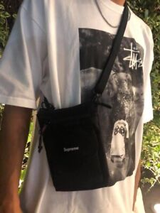 """🔥🔥 Supreme Shoulder FW19 """"Black"""" One Size Bag Canvas Camo Unisex 100% ✅✅"""
