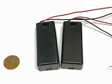 2 Pieces Twin two 2 AAA Battery Holder Case Box 3V With Power Switch Wire c12