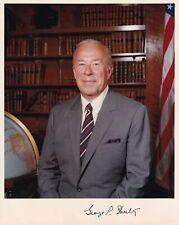 More details for george p shultz autograph hand signed photograph politician republican usa