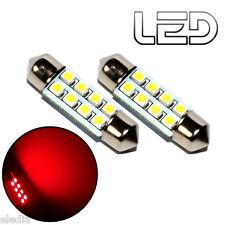 2 Ampoules navette c5w 36 mm 36mm 8 LED ROUGE Habitacle Plafonnier coffre boite