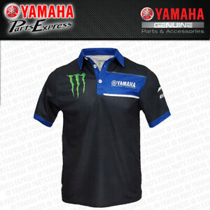 NEW YAMAHA FACTORY MONSTER ENERGY RACING MENS POLO BLACK YZ YZF YFZ R1 R6