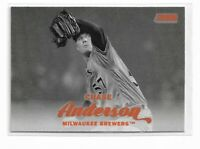 2017 Topps stadium club Orange Parallel Chase Anderson #284 Milwaukee Brewers