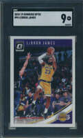 2018 19 Donruss Optic #94 LeBron James SGC 9 Los Angeles Lakers