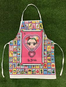 frida kahlo apron for women one size one pocket mandil para mujer unitalla