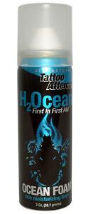 H2OCEAN Ocean Foam 2 Oz Natural Tattoo Care Aftercare Skin Moisturizer New