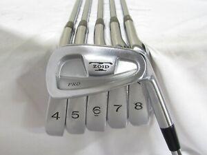 Used RH Mizuno T-Zoid Pro Iron Set 4-9 S300 Stiff Flex Steel Shafts