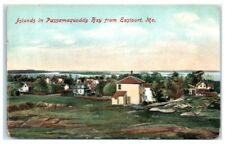Early 1900s Passamaquoddy Bay Islands from Eastport, Maine Postcard